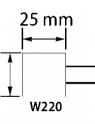 PUNTA MONTADA W220