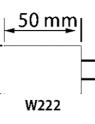 PUNTA MONTADA W222