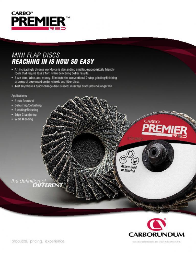 Carbo Premier Red Mini Flap Discs Flyer - CA9862