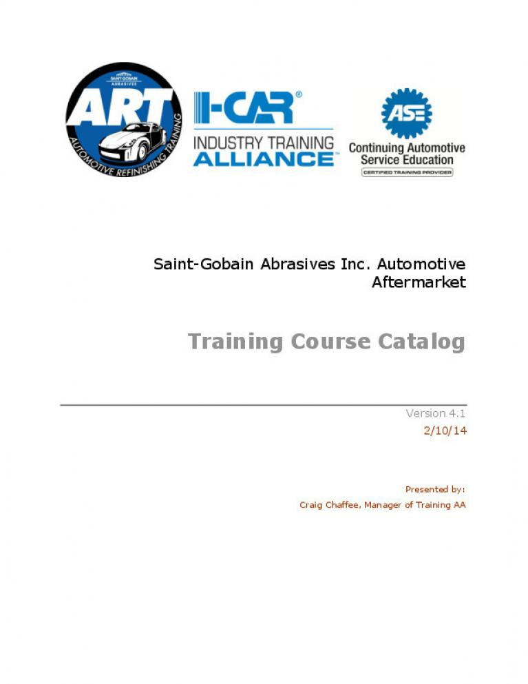 I-CAR Course Catalog