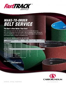 Carbo Fast Track Belts Flyer - A9851