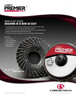 Carbo Premier Red Mini Flap Discs Flyer - CA9862