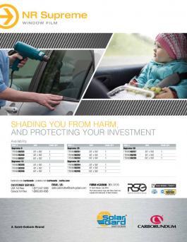 Solar Gard NR Supreme Availability Brochure - CA5908