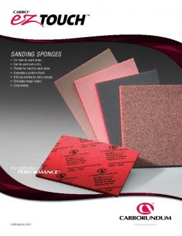 Carbo EZ Touch Sanding Sponges Brochure - CA5475