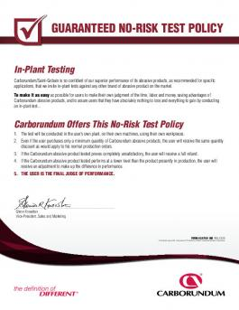 Carbo No-Risk Test Policy Form IND - CA7681