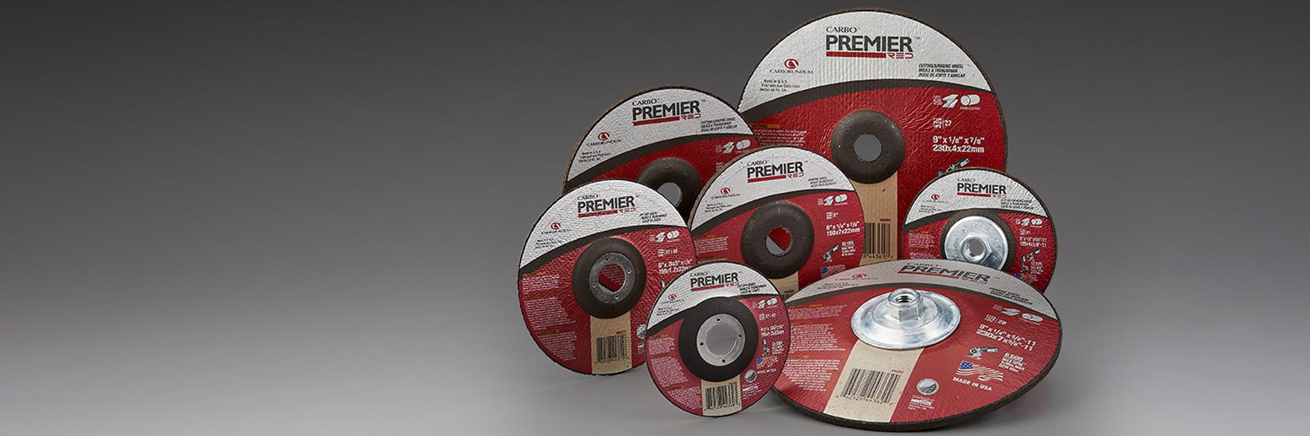 Carbo Premier Red Depressed Center Wheels